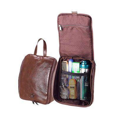 Galvani - Necessaire de pendurar, com alça de mão, bolso interno em tela e bolso interno com ziper