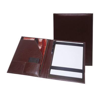 Galvani - Pasta convenção contendo porta bloco, caneteiro, aba e dois porta cartões.