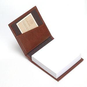 Galvani - Porta Bloco de Rascunho Personalizado com 200 Folhas, sem impressão, todo pespontado, tamanho aproximado: 9,5 cm X 9,5 cm.