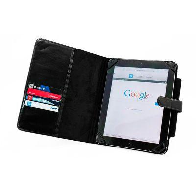 Galvani - Porta ipad com bolso interno e 4 divisórias para porta cartões.