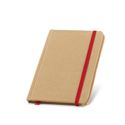 Brand Brindes Produtos Personalizados - Caderno Capa dura Cartão. Com 80 folhas não pautadas de papel reciclado. Medidas:100 x 140 mm