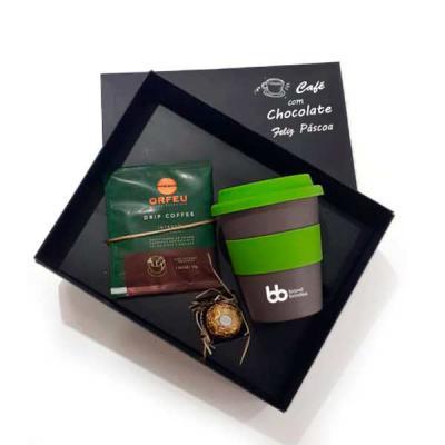 Brand Brindes Produtos Personalizados - Kit Chocolate e Café Orfeu