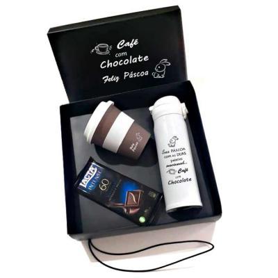 Brand Brindes Produtos Personalizados - Kit Café com Chocolate 60%