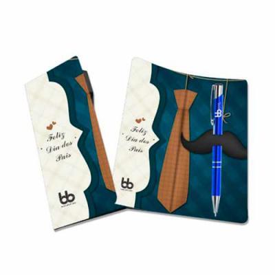 Brand Brindes Produtos Personalizados - Kit Cartão Personalizado 1 dobra com Caneta Metal  Contém:  1 Caneta Esferográfica Metal  1 Cartão Dobrável com recorte para encaixe de caneta  Cartão...
