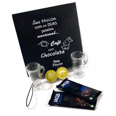 Brand Brindes Produtos Personalizados - Kit Páscoa Cápsula e Chocolate