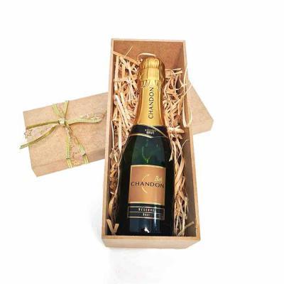 Brand Brindes Produtos Personalizados - Espumante Chandon Brut 187 ML Embalagem Caixa para presente em MDF