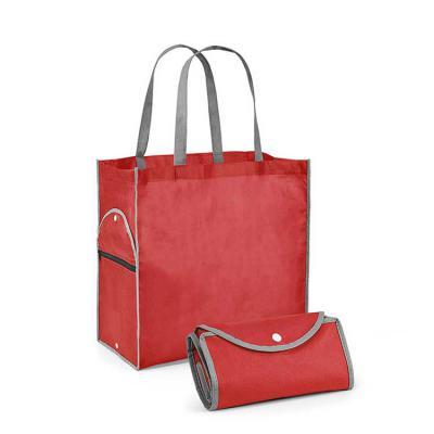 Brand Brindes Produtos Personalizados - Sacola dobrável em Non-woven: 80 g/m². Alças de 65 cm. medidas: Dobrado: 200 x 120 mm | Aberto: 400 x 450 x 200 mm