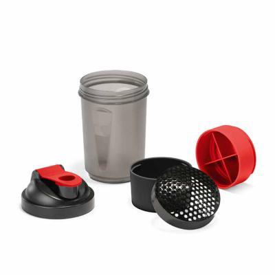 Harmoniza Brindes - Shaker. PP e PE. Com 2 compartimentos para guardar suplementos adicionais (320 ml e 150 ml). Com escala de medi��o at� 500 ml/16 ft oz. Capacidade: 63...