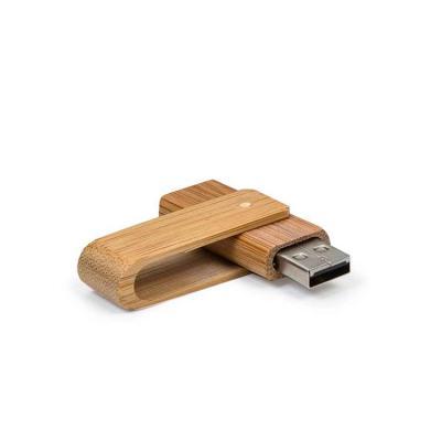 Harmoniza Brindes - Pen drive 4GB giratório de bambu.  Medidas aproximadas para gravação (CxL):  3,2 cm x 1,5 cm  Tamanho total aproximado  (CxL):  6 cm x 1,9 cm  Peso ap...