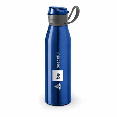 Envolve Promocional - Squeeze alumínio na cor azul.
