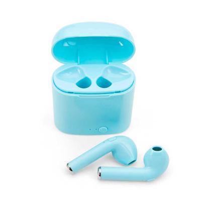 Envolve Promocional - Fone de ouvido na cor azul, com case.