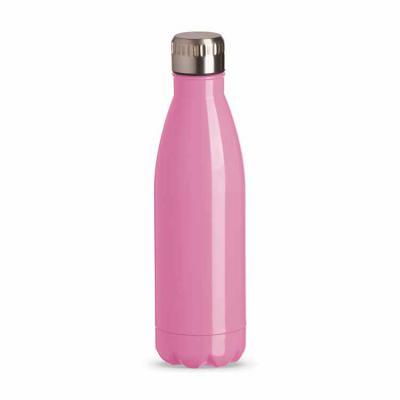 Envolve Promocional - Squeeze inox na cor rosa.