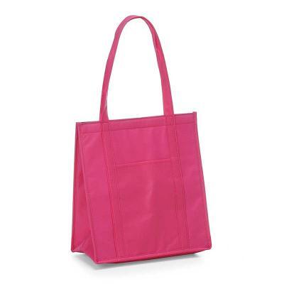 Envolve Promocional - Sacola térmica, na cor rosa.