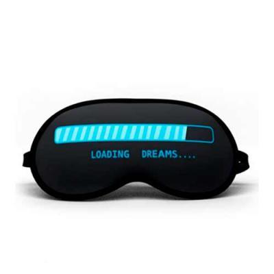Envolve Promocional - MÁscara de dormir para brinde Dimensões: 20,6 cm x 10 cm Cor: preto Material: cetim Tipo de gravação: silkscreen