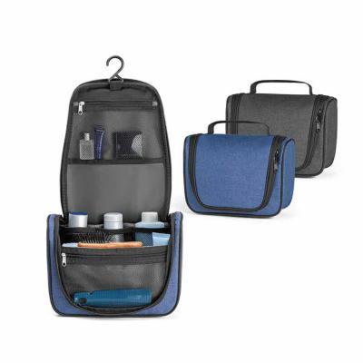 Envolve Promocional - Nécessaire nylon na cor azul com divisórias internas. Disponíveis nas cores preta e azul.