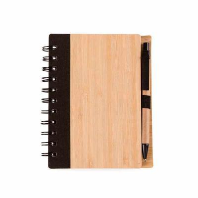 Primme Promocionais - Bloco de Anotações Bambu com Caneta