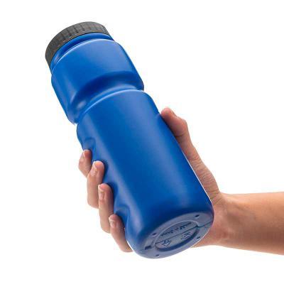 Primme Promocionais - Squeeze plástico (PE) 850ml com tampa de bico rosqueável e formato para encaixe dos dedos no corpo da garrafa.  Altura :  24 cm  Largura :  7,5 cm  Ci...