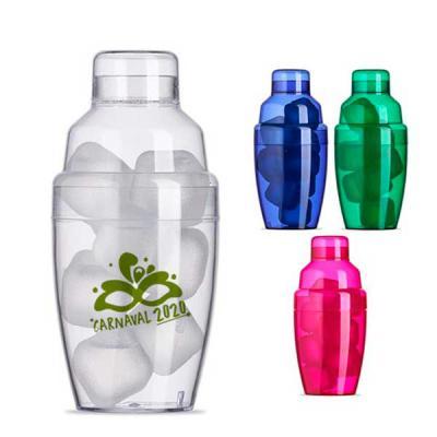 Primme Promocionais - Coqueteleira Plástica Personalizada com Gelo Ecológico 230ml