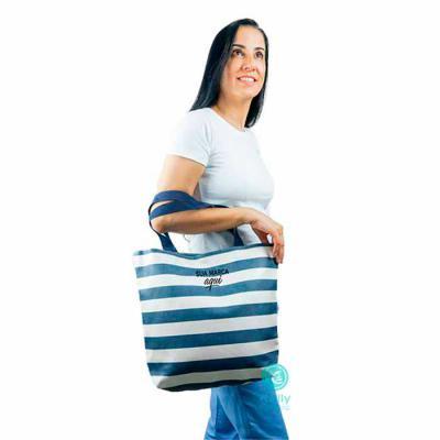 kelly-pinheiro - Sacola modelo praia listra blue
