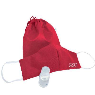 Kelly Pinheiro Brindes - Kit Proteção Máscara e Álcool em Gel 30 ml