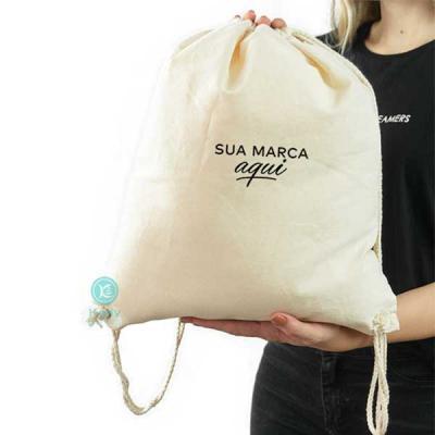 Kelly Pinheiro Brindes - Sacola tipo mochila 100% algodão