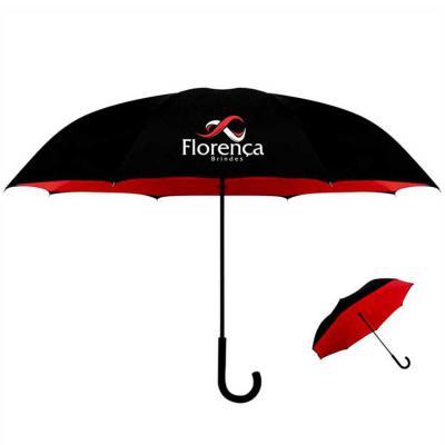 Florença Guarda-Chuvas Personalizados - Guarda-chuva Invertido fl003 vermelho
