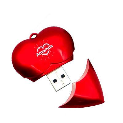 Brindi Produtos Corporativos - Pen drive personalizado em formato de coração