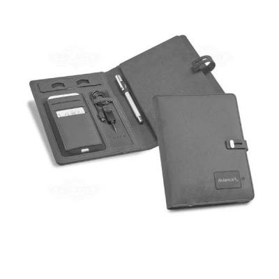 Ninja Brindes - Caderno com powerbank personalizado
