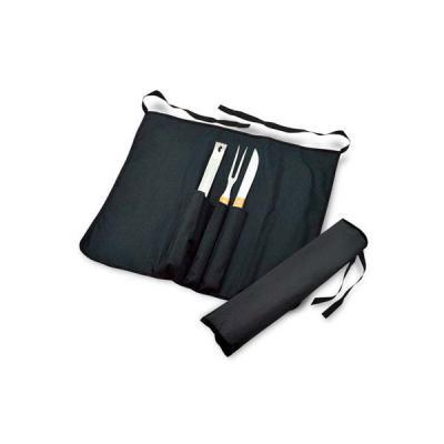 Ninja Brindes - Kit Churrasco para Brindes com Avental, Brinde personalizado com avental, pinça, garfo e faca. O kit possui ótimo acabamento e é processado no cabo de...
