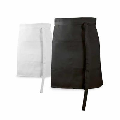 Donna Brindes e Presentes Personalizados - Avental de bar. Algodão e poliéster: 150 g/m². Com 2 bolsos.  DIMENSÃO: 900 x 480 mm | Bolso: 200 x 195 mm