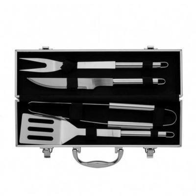 Silk Brindes - Kit churrasco em maleta de alumínio 4 peças