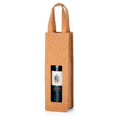 Silk Brindes - Sacola de cortiça para garrafa