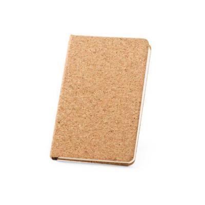 Attentive Grafica & Brindes - Características do Produto: Caderno capa dura A5 em cortiça 80 folhas não pautadas em cor marfim e fita separadora. 140 x 210 mm
