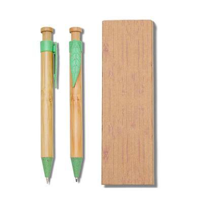 ECOnoção Atitudes Sustentáveis - Conjunto Caneta e Lapiseira Bambu