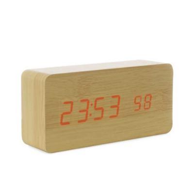 Kriei Brindes - Relógio de Madeira com Display LED