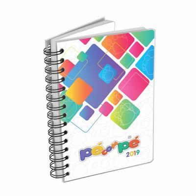 Hukyplast - Agenda diária 344 páginas em 2 cores, com índice e dados gerais + 8 mapas em 4 cores. Medidas: 14 x 20 cm