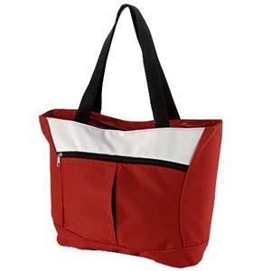 Roar Material Promocional - Bolsa/Sacola com bolso frontal, alça de ombro e fechada por zíper.