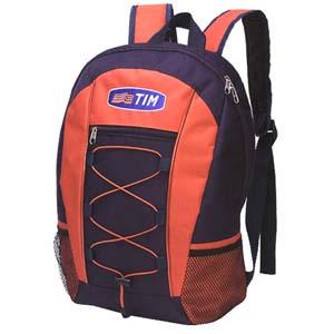 Roar Material Promocional - Mochila com bolso frontal, suporte lateral e gravação personalizável.