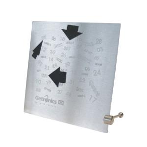 OZN Produz Presentes Corporativos - Calendário eterno interativo é uma peça moderna e simples, produzido em placa de aço inox tem gravação dos dias do mês, da semana e meses. Garanta já...