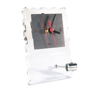 OZN Produz Presentes Corporativos - Relógio de mesa de vidro trabalhado manualmente, gravado a jato de areia, com mostradores em aço inox. Não perca tempo, adquira já o seu!