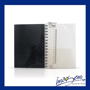 Imagem Promocional - Agenda diária capa de plástico preto