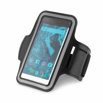 Imagem Promocional - Soft shell de alta densidade. Com elementos refletivos e fecho ajustável. Para smartphone 5.5''. 440 x 175 mm.