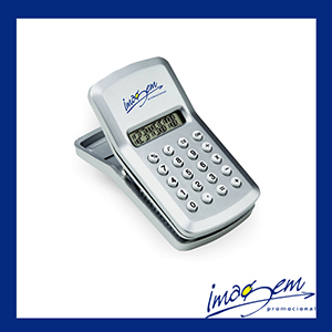 Imagem Promocional - Calculadora com clip prata
