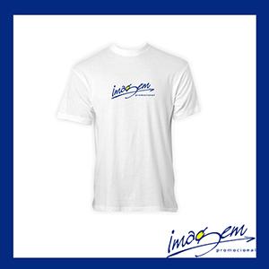 Imagem Promocional - Camiseta branca em algodão com a gola careca