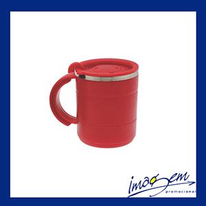 Imagem Promocional - Caneca em metal/plástico vermelho 400ml