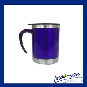 Imagem Promocional - Caneca térmica azul 400ml