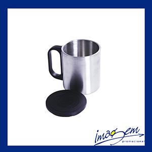 Imagem Promocional - Caneca de inox com tampa - 200 ml