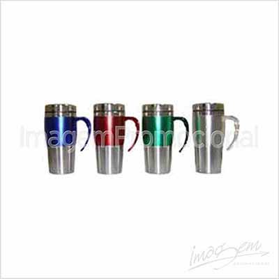 Imagem Promocional - Caneca térmica de metal / acrílico 400 ml.