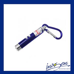 Imagem Promocional - Chaveiro laser com mosquetão azul