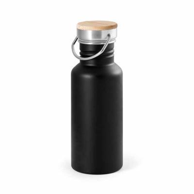 Imagem Promocional - Aço inox. Tampa em bambu. Capacidade: 540 ml. Food grade. Fornecido em caixa. Ø68 x 192 mm